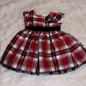 Baby girl 9-12 month Christmas plaid dress carters